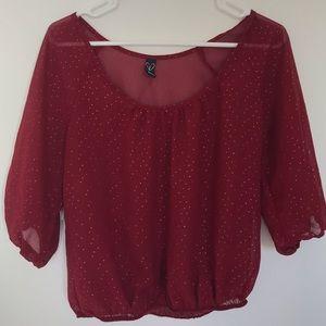Windsor Red long Sleeved Blouse